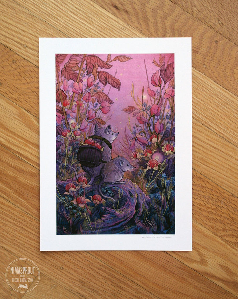 Berry Harvesters Print