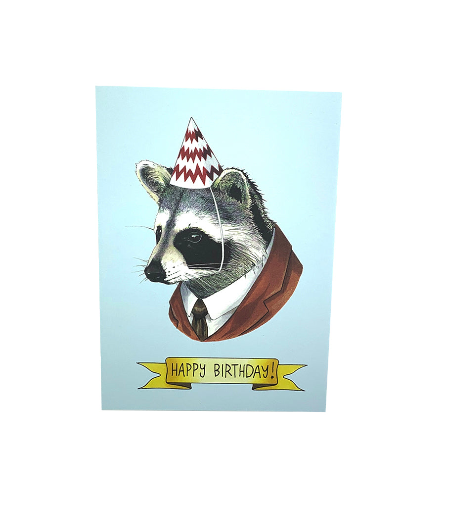 Birthday Raccoon Card