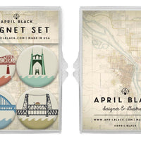 Portland Bridges Magnet Set
