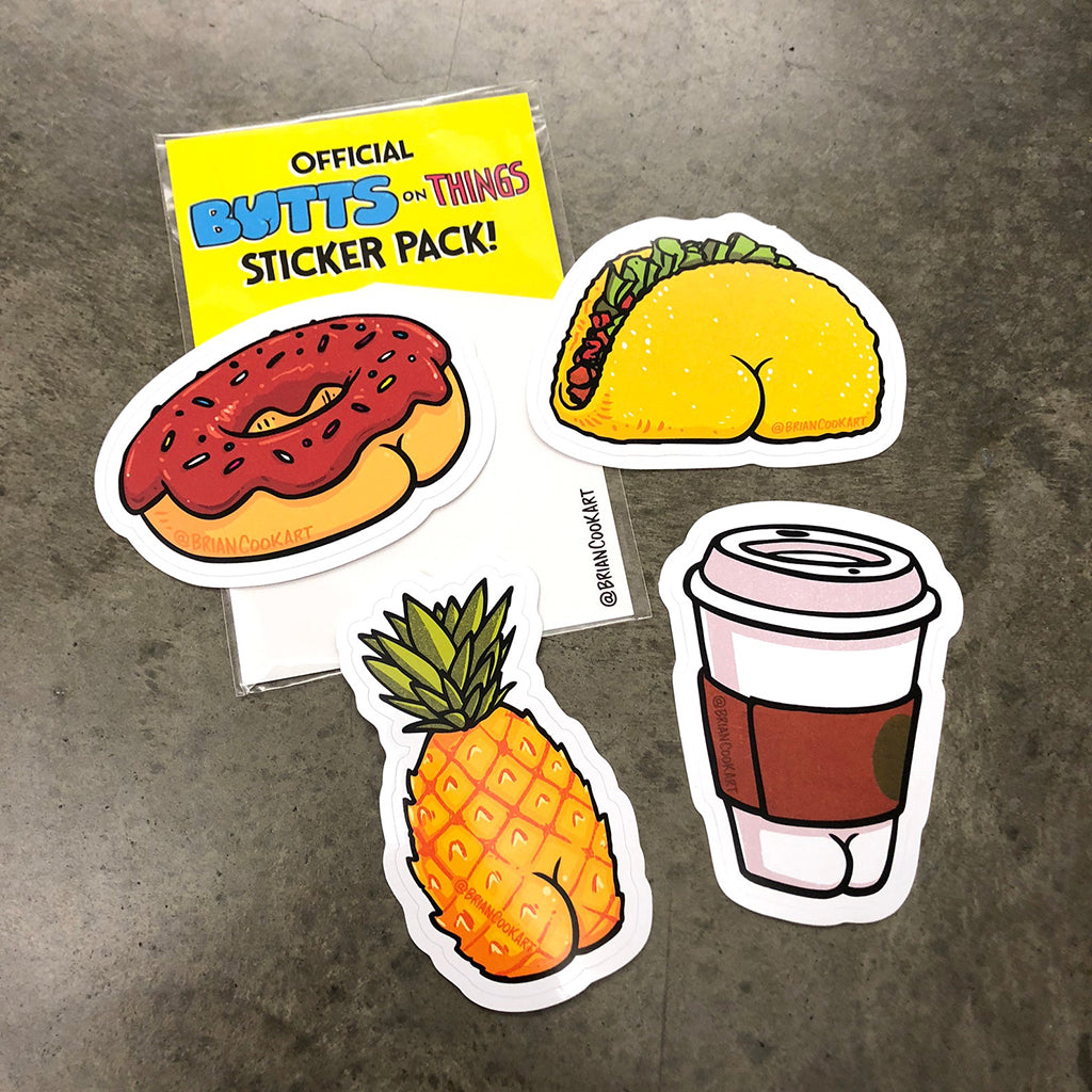 Butts on Things Sticker Pack