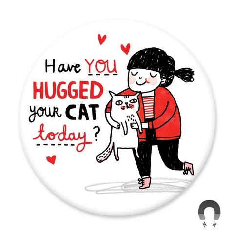 Cat Hugs Magnet