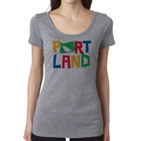 Women's Colorful Bird Portland t-shirt