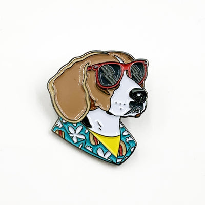 Cool Dog Enamel Pin