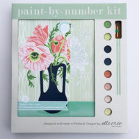 Poppies in Vase Paint by Numbers Kit