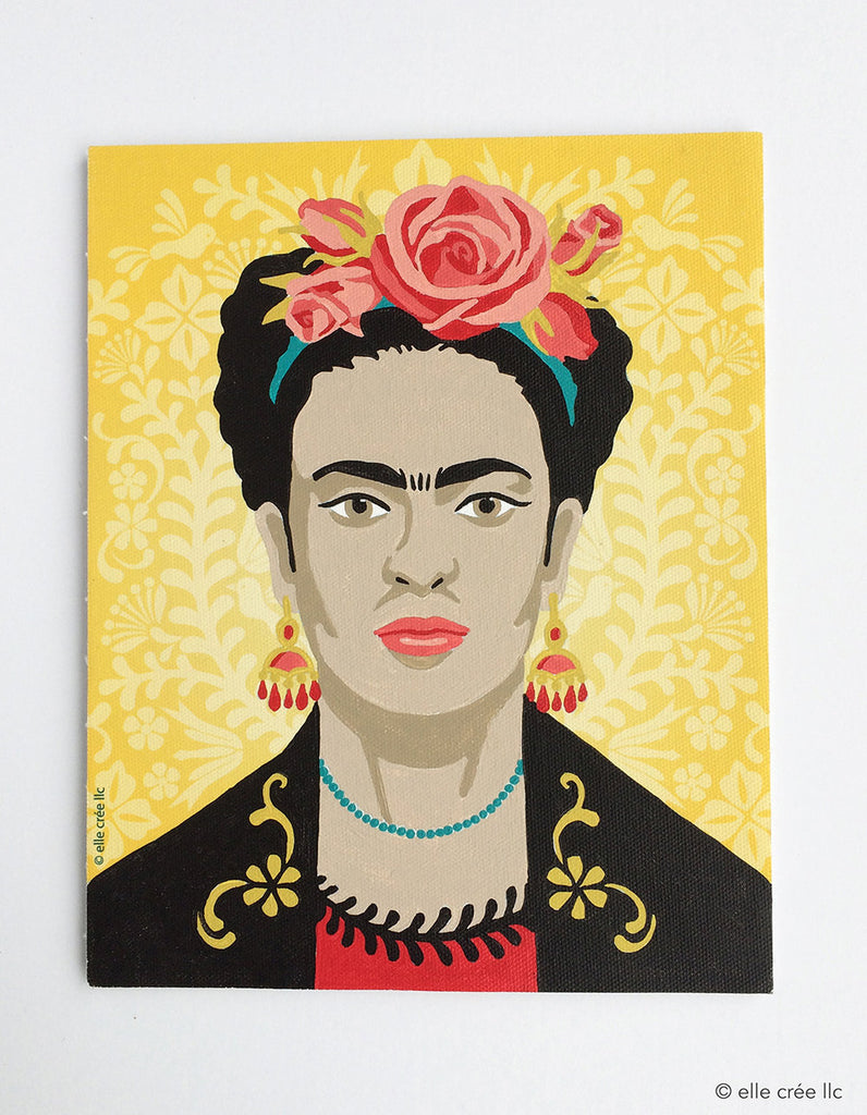 Frida with Flowers Paint by Numbers Kit