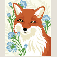 Fox with Chicory Paint by Numbers Kit