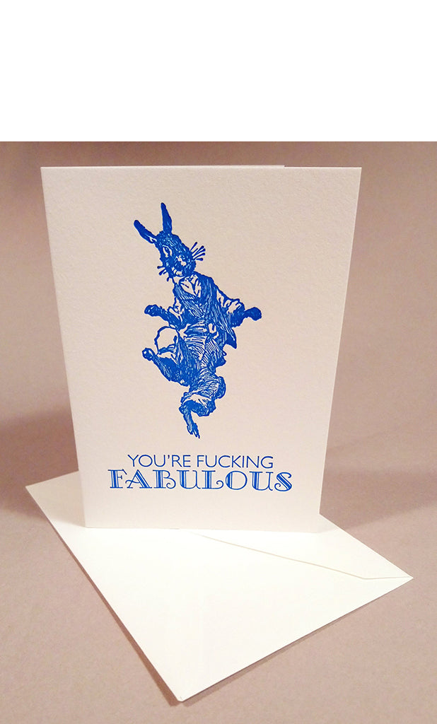 You're F*cking Fabulous Letterpress Card