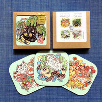 Flower Cats Coaster Set