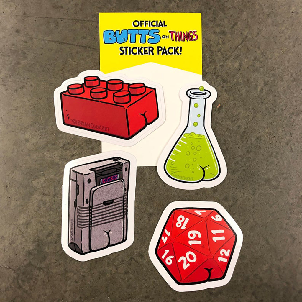 Geeky Butt Sticker Pack