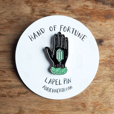 Hand of Fortune Enamel Pin