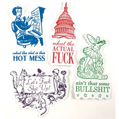 Hot Mess Sticker Set