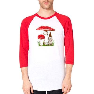 Gnome and Mushroom Raglan Shirt