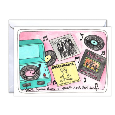 Punk Rock Love Song Card