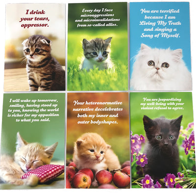 Social Justice Kittens Postcard Set Vol 1