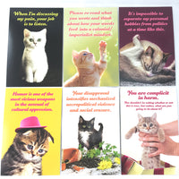 Social Justice Kittens Postcard Set Vol 5