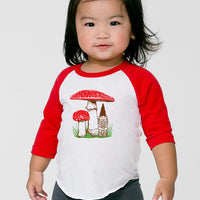 Little Lark toddler mushroom raglan