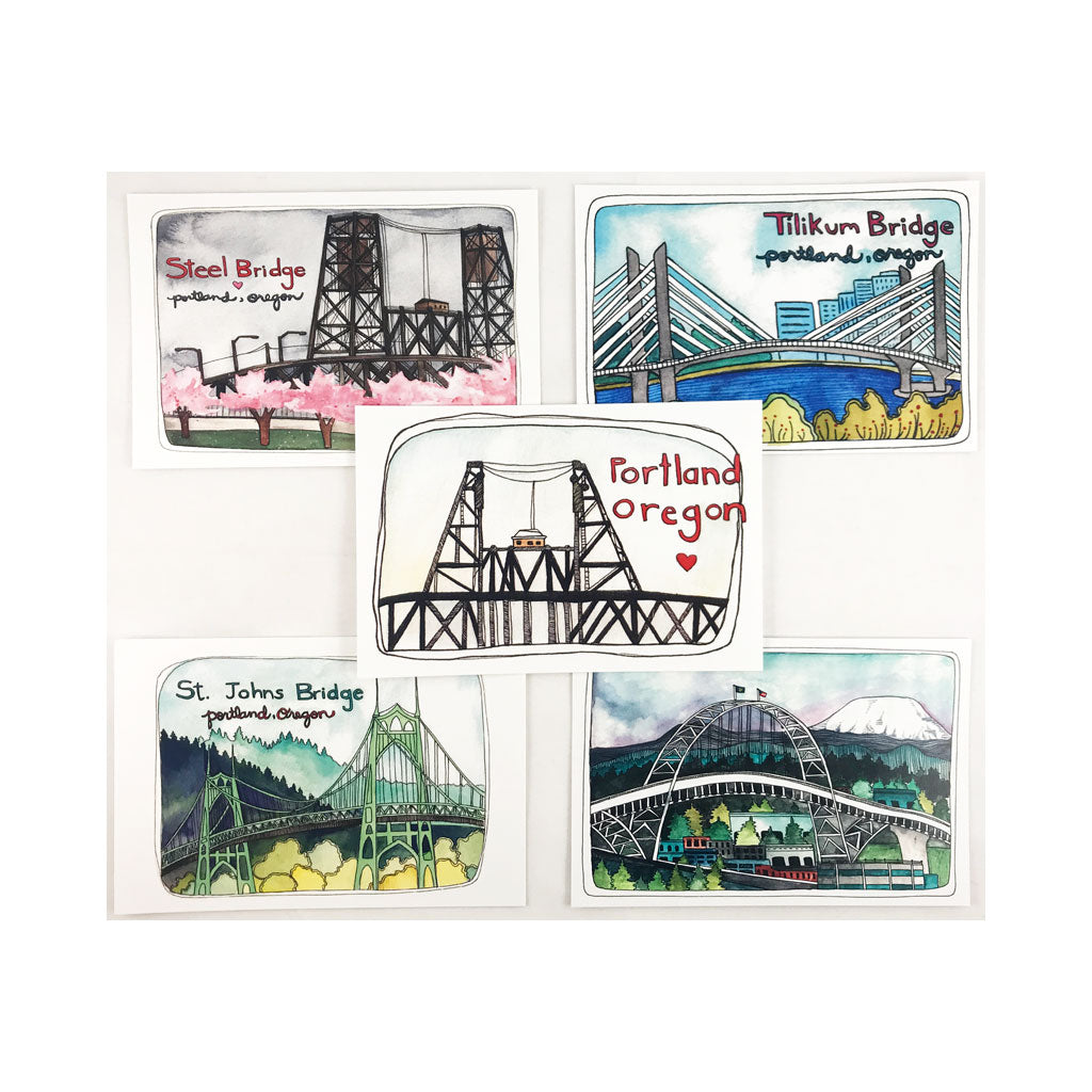 Portland Bridges Postcard Set
