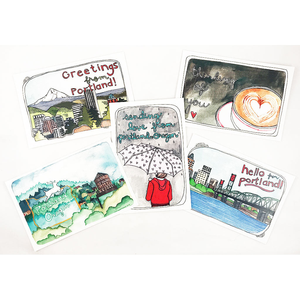 Greetings from Portland Postcard Set