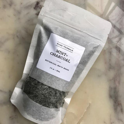 Mint + Charcoal Bath Soak