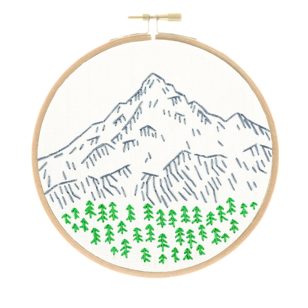 Mt. Hood embroidery kit