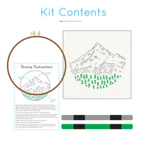 Mt. Hood embroidery kit by Studio MME