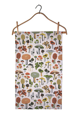 Midcentury Mushrooms Tea Towel