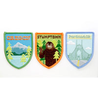 collectible iron-on souvenir patches from oregon