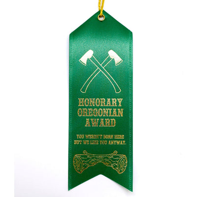 Honorary Oregonian prize ribbon