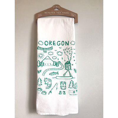 Oregon Icons Tea Towel