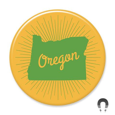 Oregon Gold Sunburst Magnet