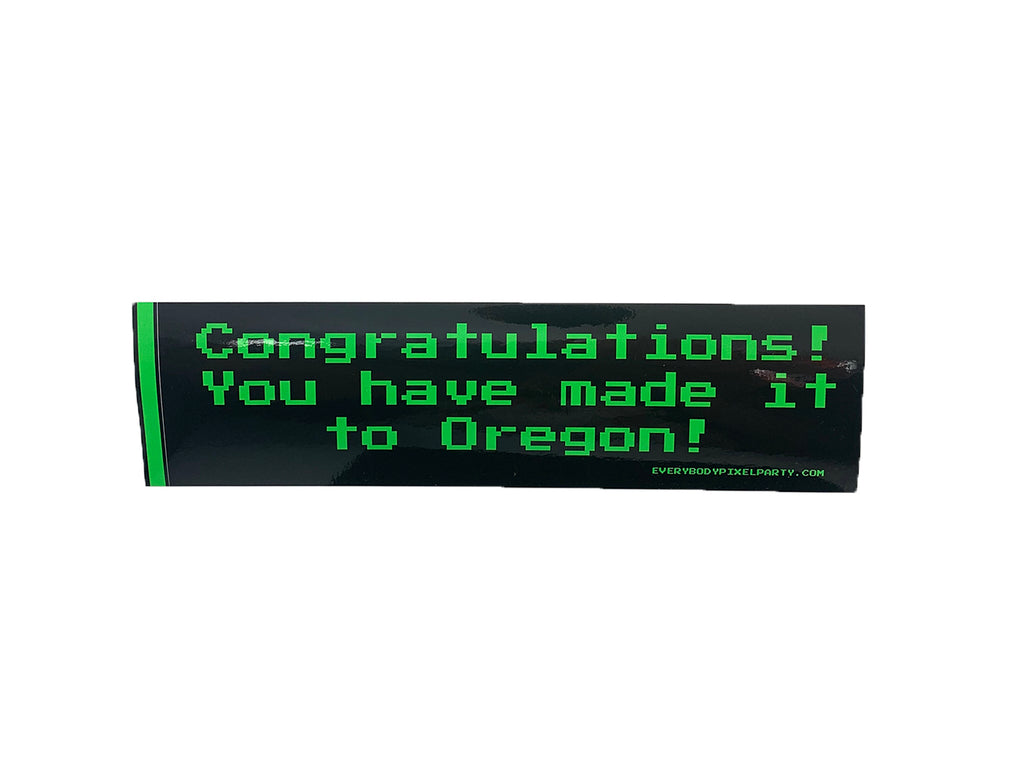 Oregon Trail Game Bumper Sticker