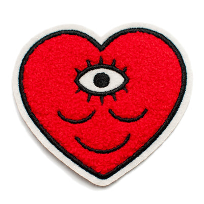 Chenille Heart Iron-On Patch