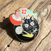 Curious Nature Cat Enamel Pin