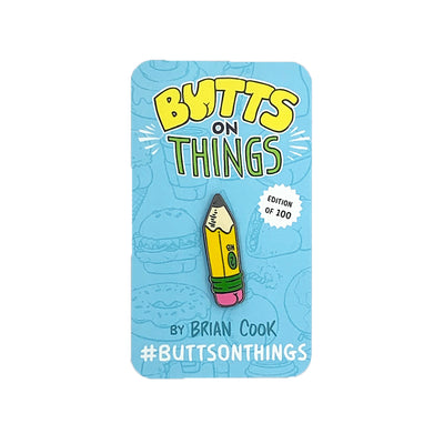 Pencil Butt Enamel Pin