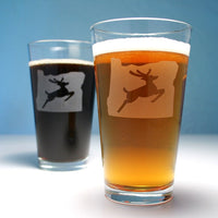 Oregon stag sign pint glasses