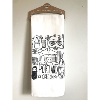 Portland Icons Tea Towel
