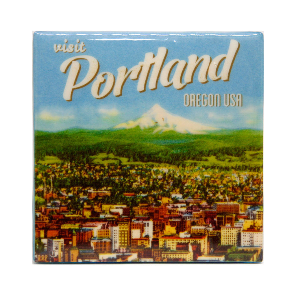 Portland technicolor tile coaster