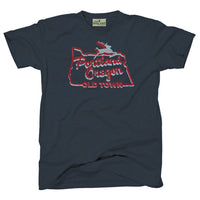 Portland Oregon white stag sign t-shirt