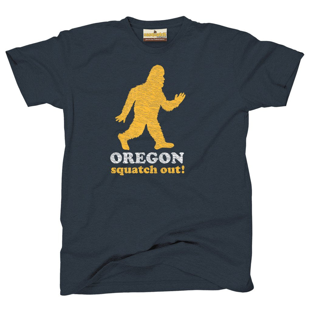 Oregon sasquatch squatch out t-shirt