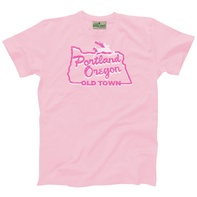 Kids and Youth white stag sign Portland t-shirt