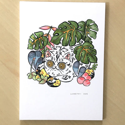 Curious Botany Cat Print