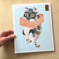 Hanging Perch Cat Print