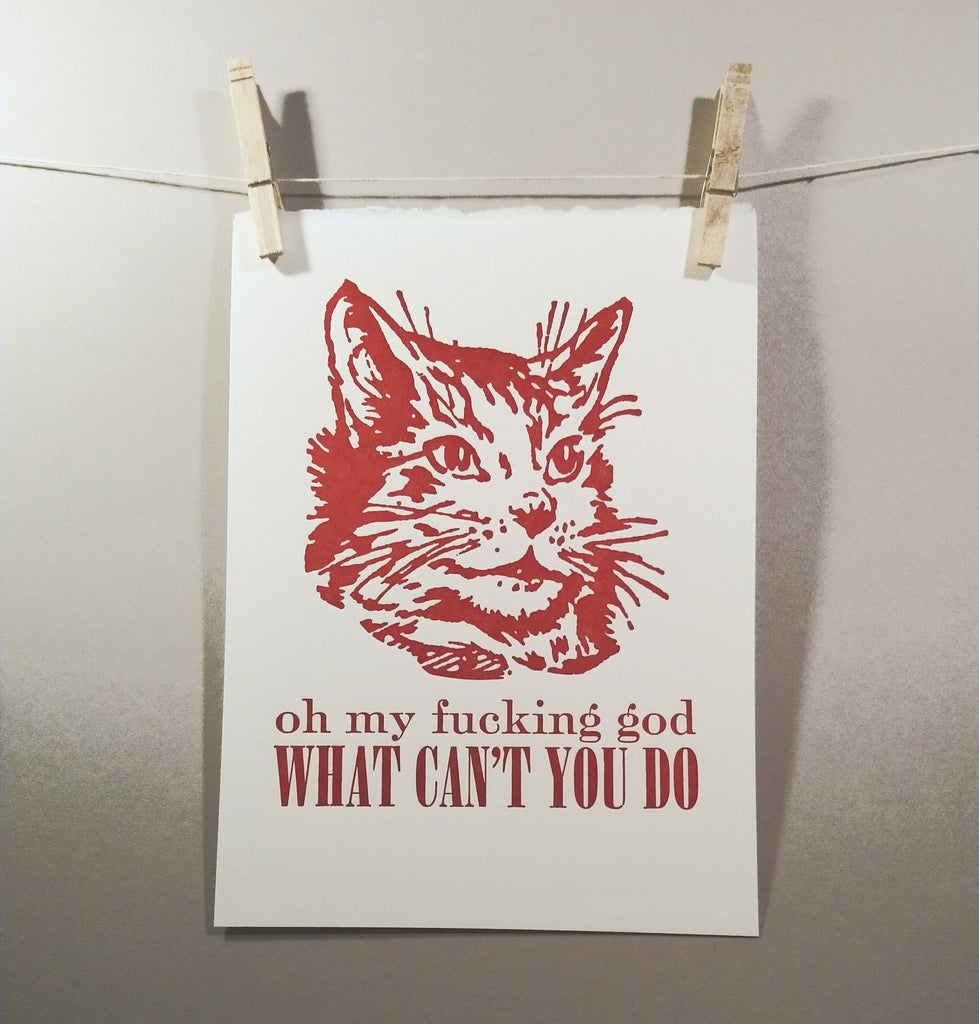 OMFG What Can't You Do? Letterpress Print