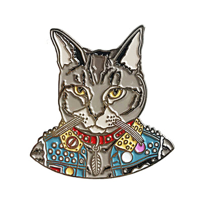 Punk Cat Enamel Pin