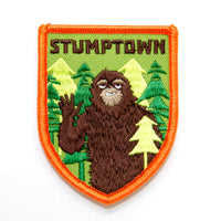 stumptown sasquatch iron on patch