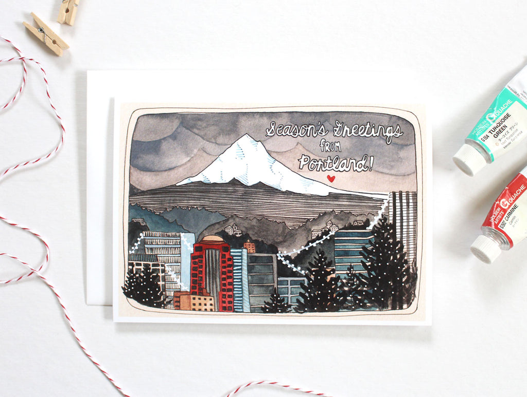 Greetings from Portland Holiday Card