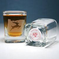 Stag sign shot glass
