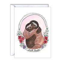 Sloth Hugs Card