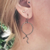 Serpentine Hoop Dangle Earrings