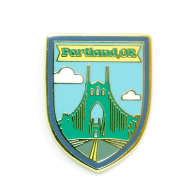 Portland, Oregon St. Johns Bridge enamel pin